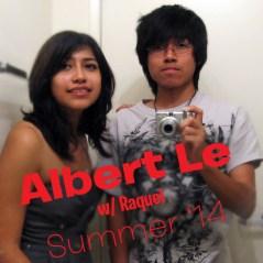 selfie of Alber Le & Raquel in a mirror
