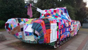 Creative Commons image of yarn bombing from Flickr