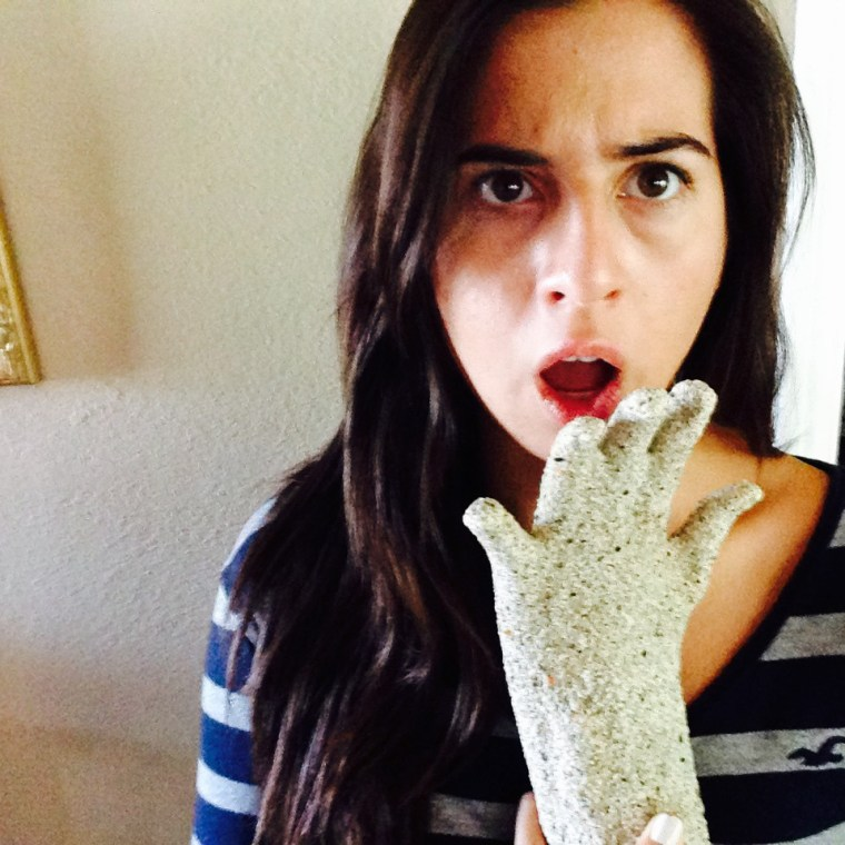"Millie Herrera is ""shocked"" by the way her plaster casting of her hand came out"