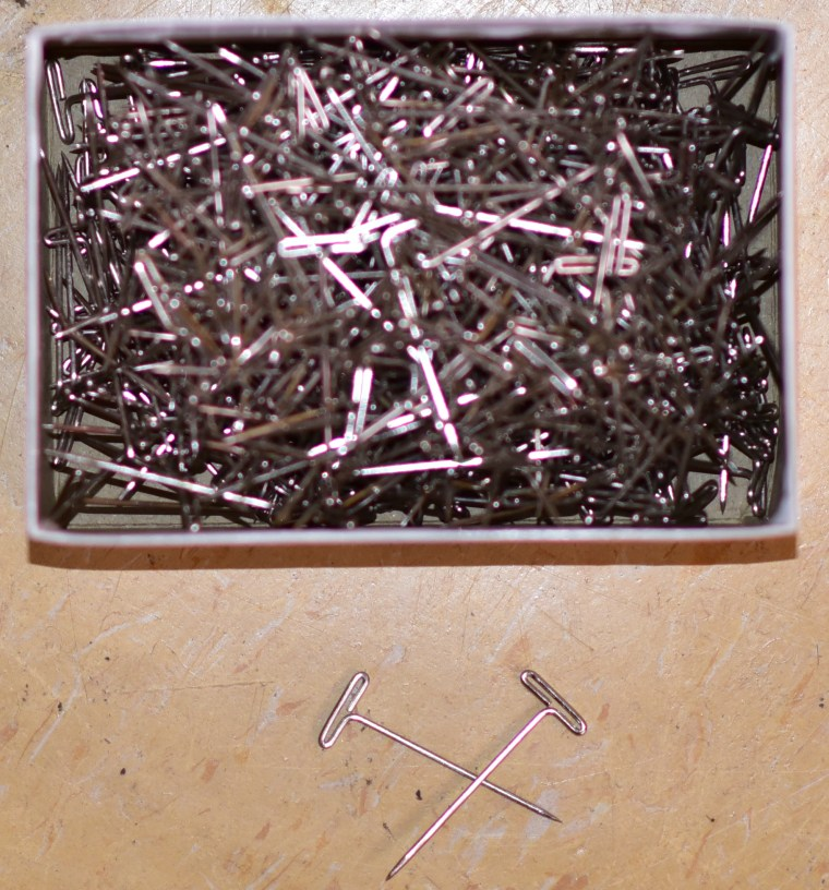 photo of a box of t-pins