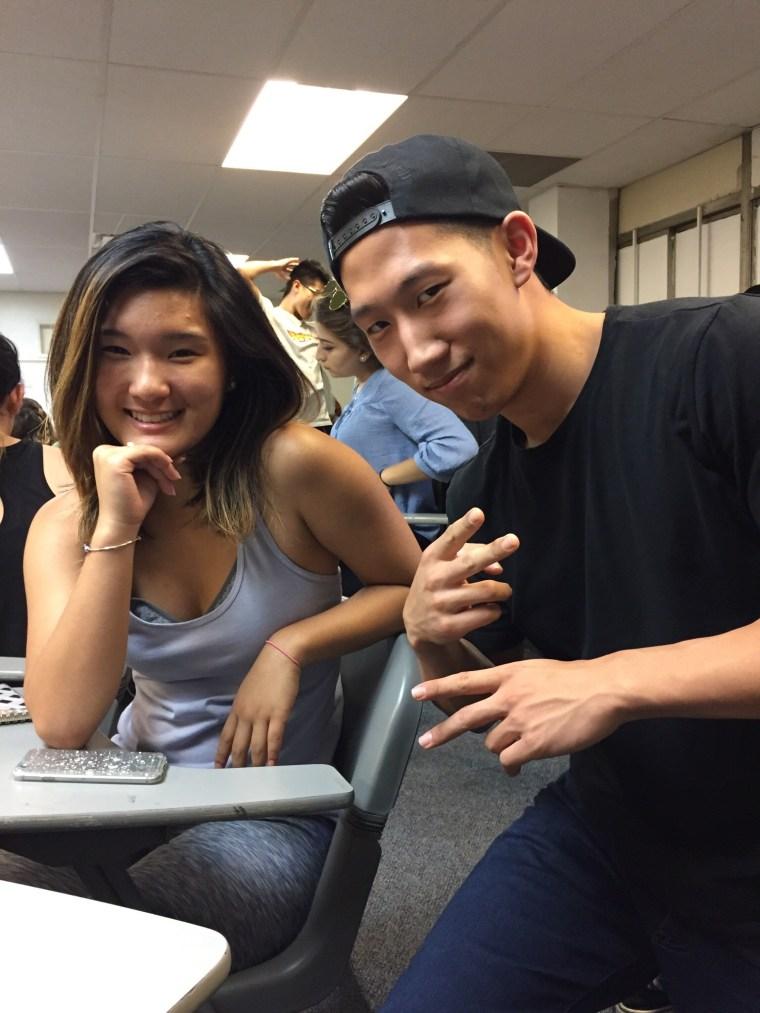 Megan Chung & Tim Chung in CSULB Classroom FA4-311