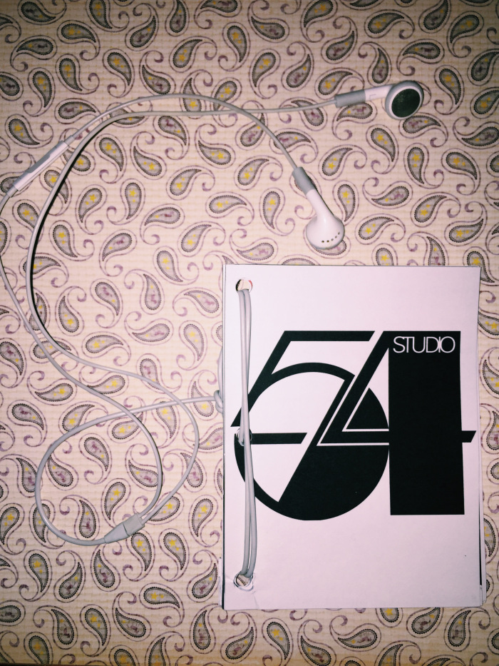 "photo of Emily Tomasello's ""Studio 54"" zine, as described in the text below"