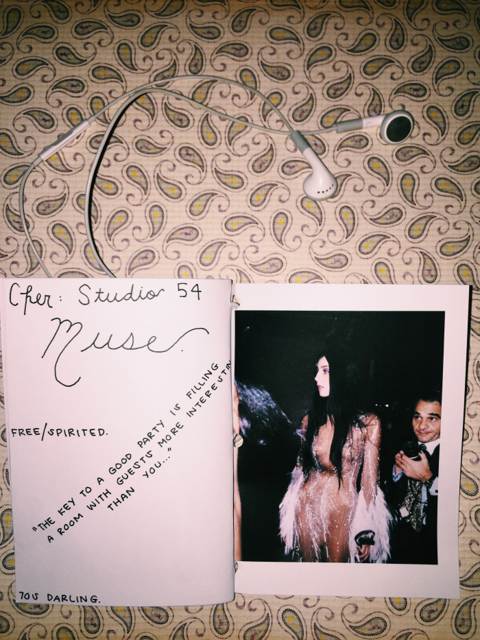 "photo of a ""Studio 54"" zine by Emily Tomasello, as described in the text above"