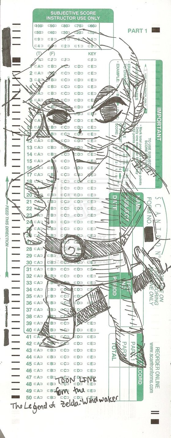 Sketch with Scantron!