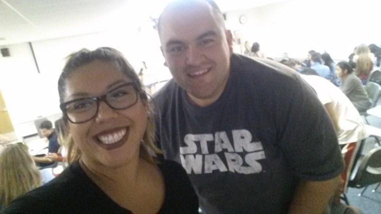 Claudia Sanchez & Alfredo Gonzalez in CSULB classroom FA4-311