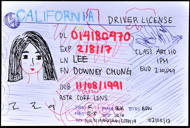 drawing of a CSULB student ID Card