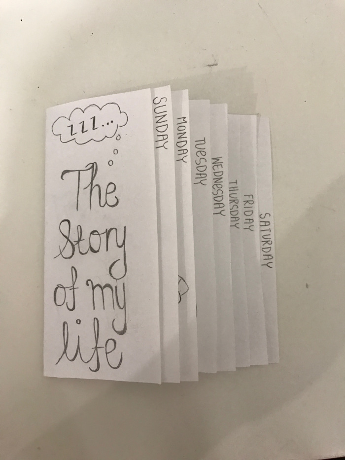 "the cover of a zine titled ""The Story of my life"""