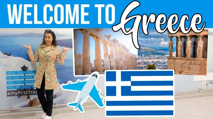 """travel images with text """"Welcome to Greece"""""""