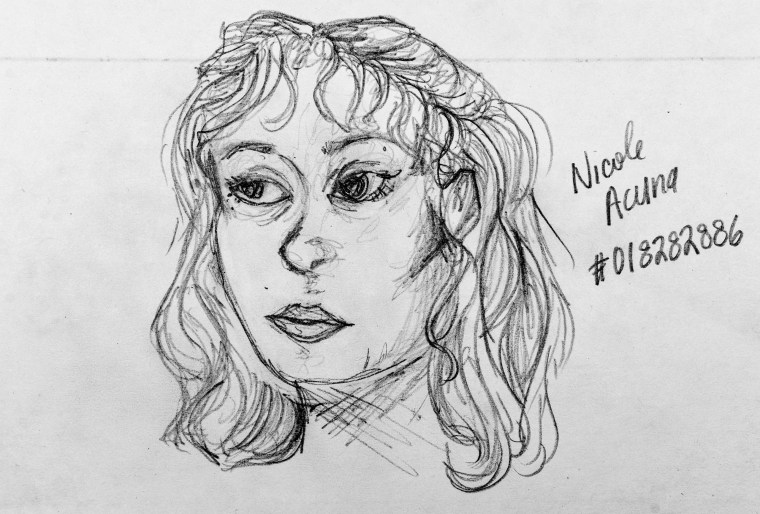 "pencil drawing of Art 110's fictitious sage ""Miumiu"""
