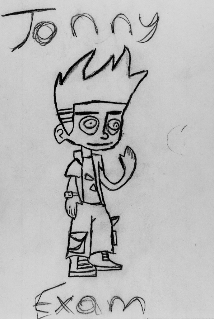 Pencil sketch of Art 110 sage Jonny Exam