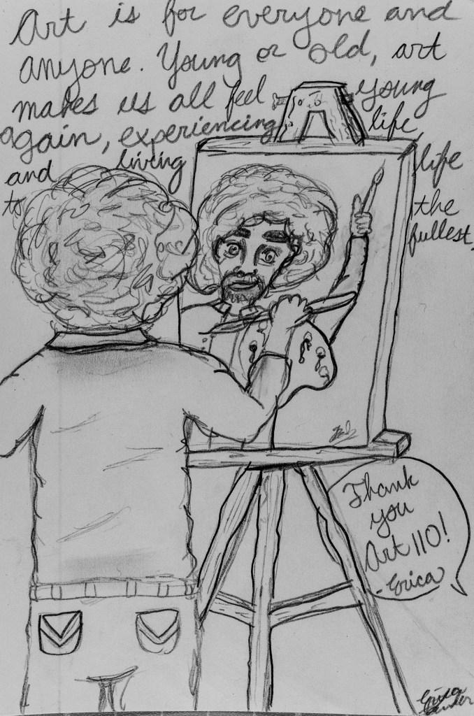 Portrait of Art 110 sage Erica-Bob (Bob Ross)