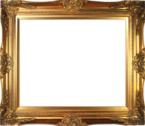 photo of an ornate gold picture frame