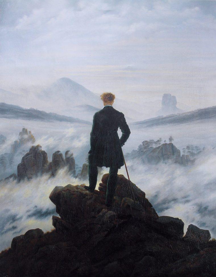 Wanderer above the sea of fog by Caspar David Friedrich 1818
