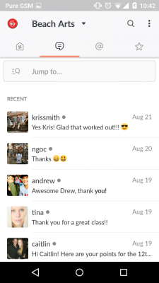 Screen cap from Slack Mobile