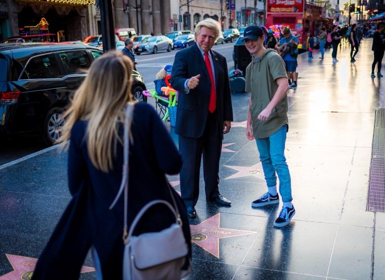 Donald Trump's Star on Hollywood Boulevard. 17:53:13 PDT