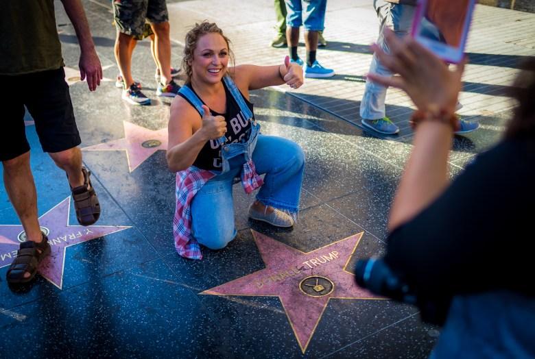 Donald Trump's Star on Hollywood Boulevard. 15:59:01 PDT