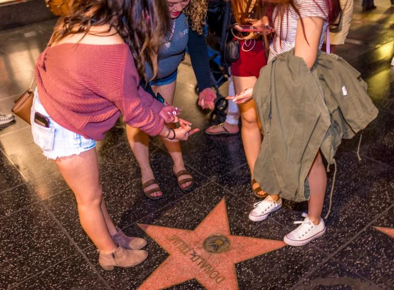 Donald Trump's Star on Hollywood Boulevard. 18:43:29 PDT
