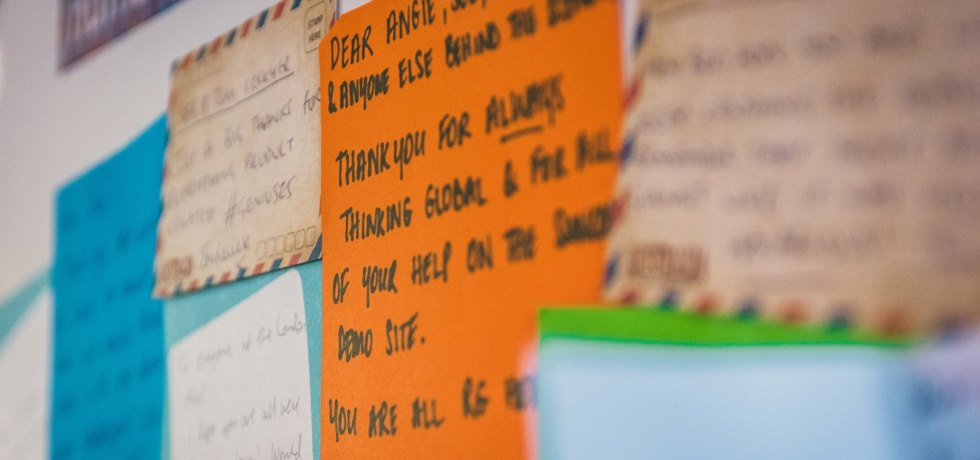 Thank you notes are a key part of employee recognition