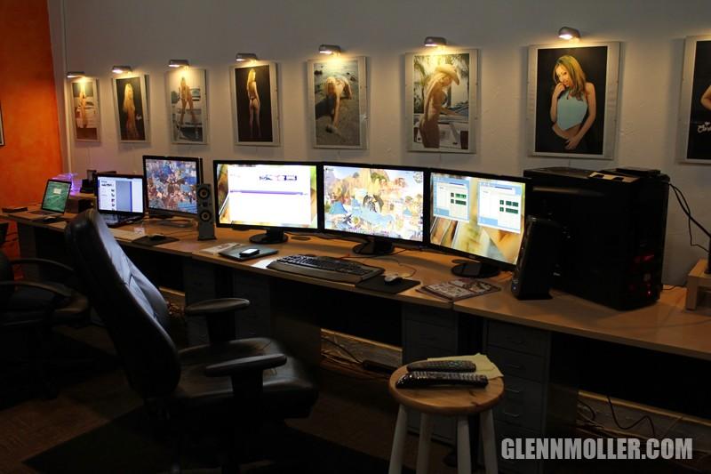 Glennmollercom  New desk arrangement for the Eyefinity