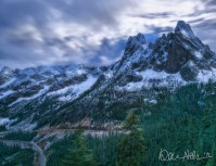 DECEMBER: Winter is coming ... at Liberty Bell Mountain, with the North Cascades Highway winding by.