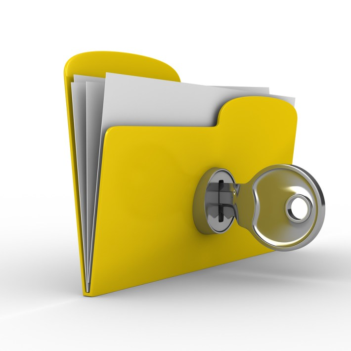 Folder with lock for privacy