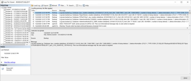 SQL Server Log File Viewer