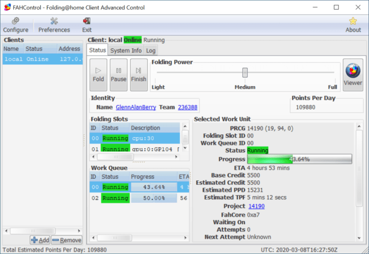 FAH Advanced Control Client