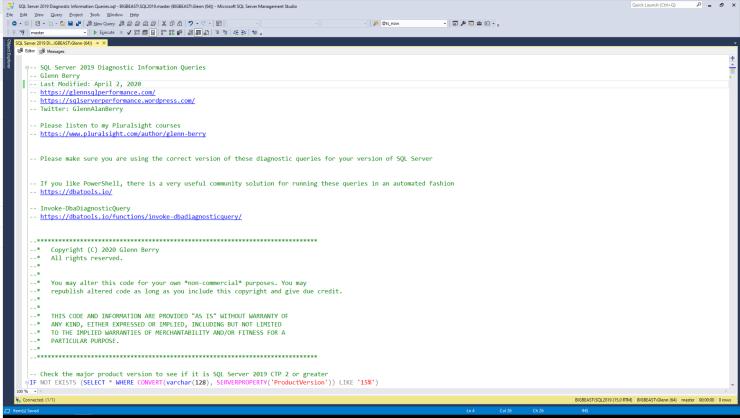 SQL Server Diagnostic Information Queries for April 2020