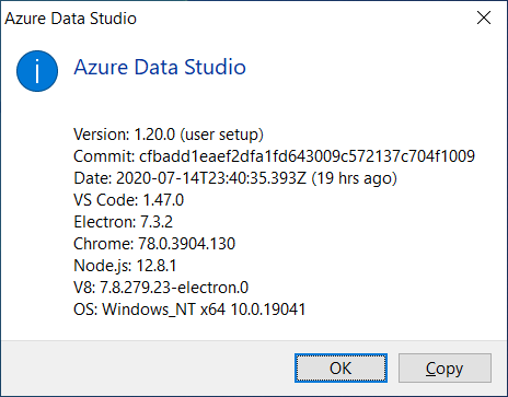 July 2020 Release of Azure Data Studio