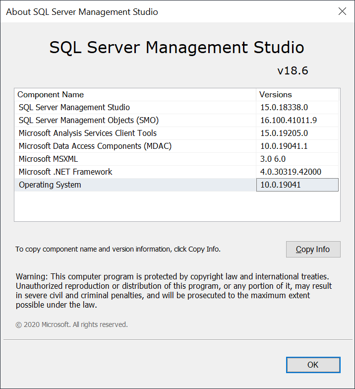 SSMS 18.6 Released