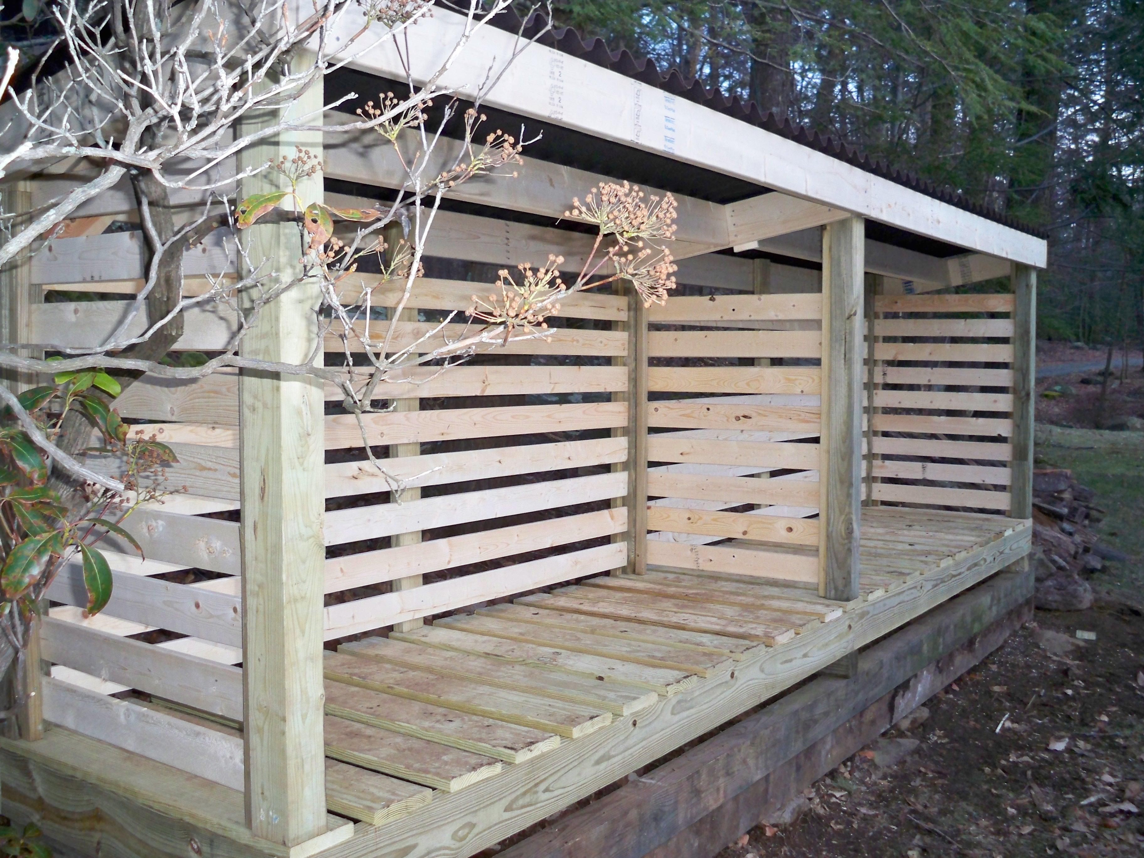 The Oscawana Large Capacity Custom Wood Shed