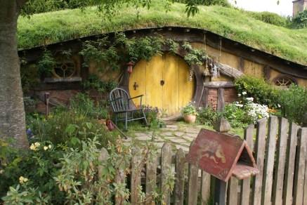 Le tout premier trou de hobbit qu'on voit quand on arrive