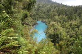 Hokitika gorge et sa couleur d'eau invraisemblable