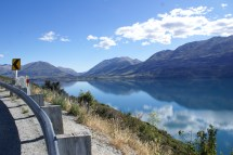 Lake Wakatipu entre Queestown et notre camping de Kinlock