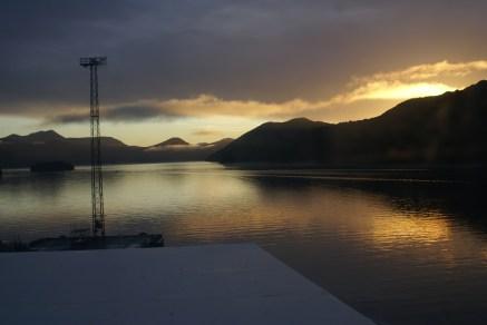 Picton Harbour au matin du départ