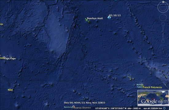 Oct 5 Penrhyn Atoll close up