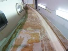 Deck fibreglassed