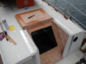 West Wind II hatch in progress