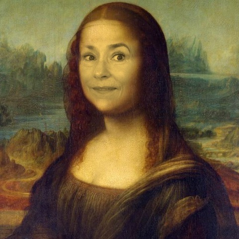 Mona Lisa with Glenn Younnger's face for the Incontri il tuo Io Infinito online course