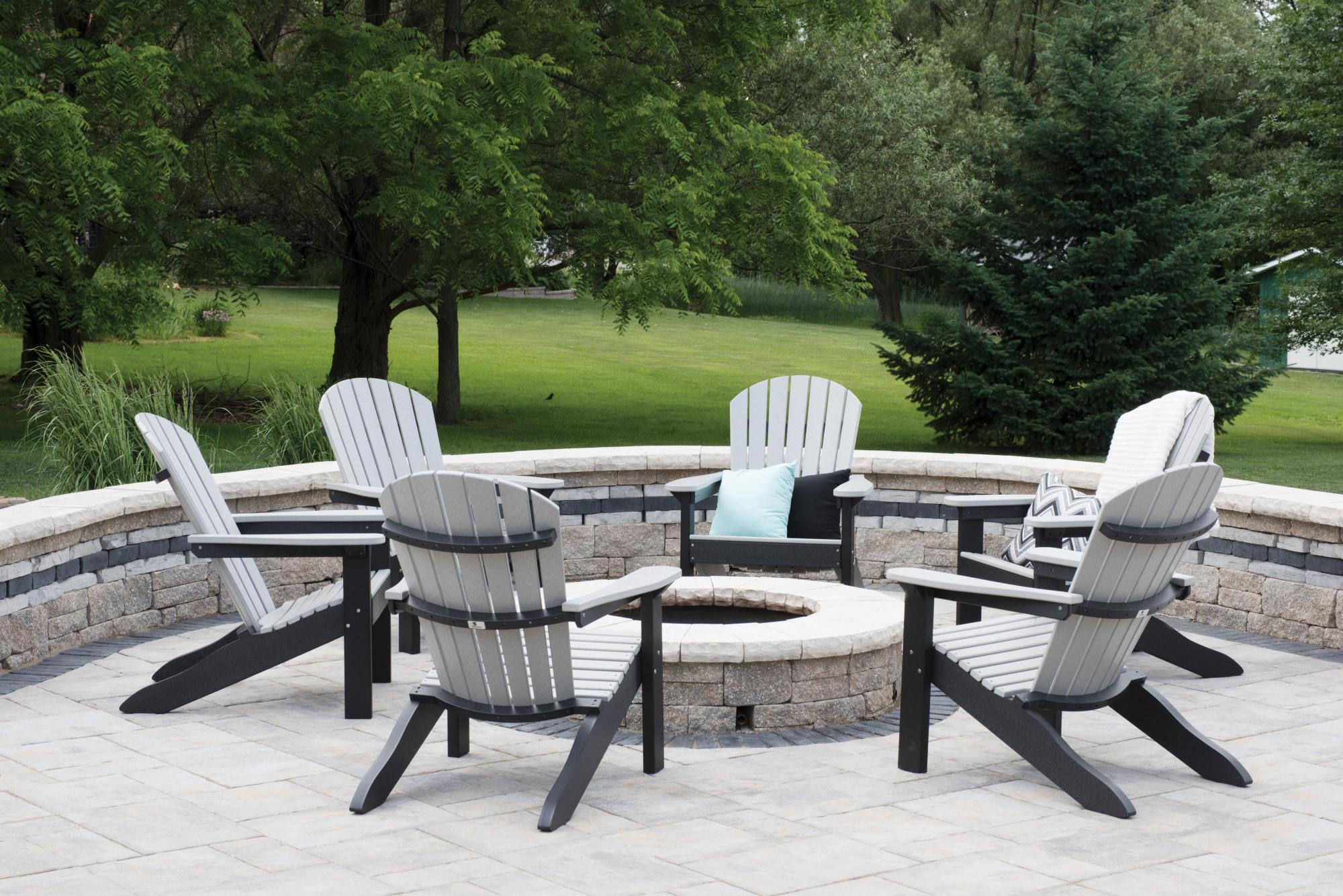 Chairs Around Fire Pit Comfo Back Adirondack Chair