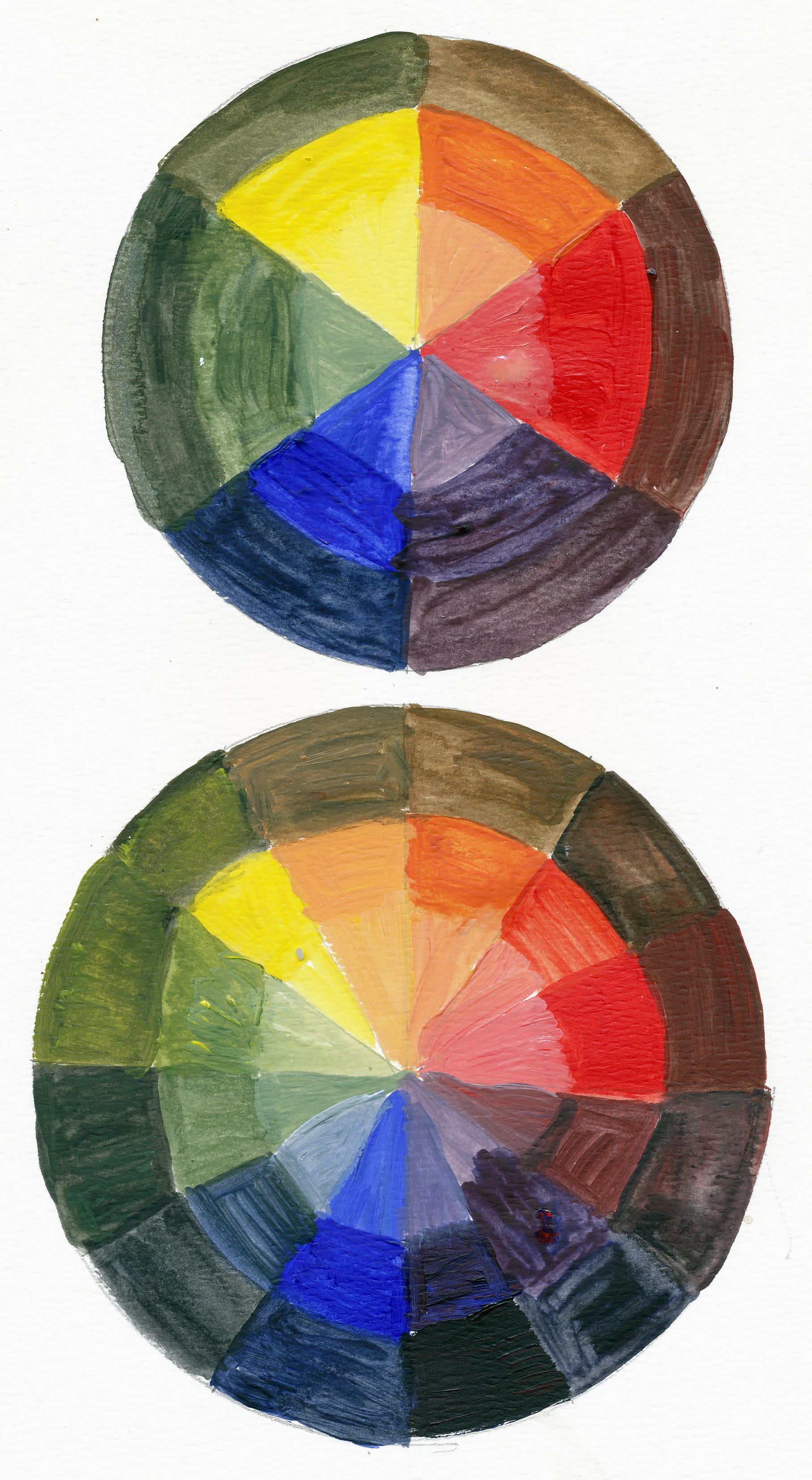Tints Shades And Colour Wheels