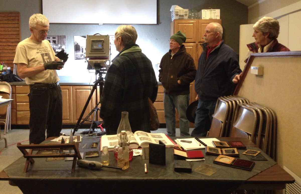 Glens Falls Art tintype talk at the Chapman Museum. Unique free things to do in Glens Falls NY.