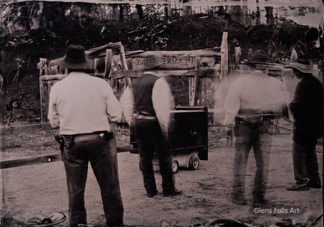 Tintype of cowboy reenactors by photographer Craig Murphy and his Glens Falls Art tintype studio.