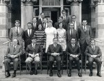 P 64, 1970, Medical Staff in front of Admin Building