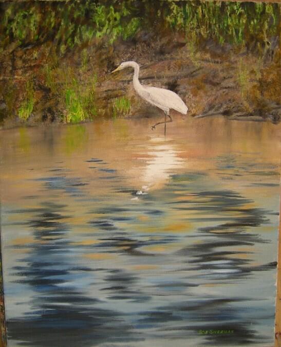 Egret on Fox River