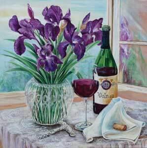 French Wine With Iris