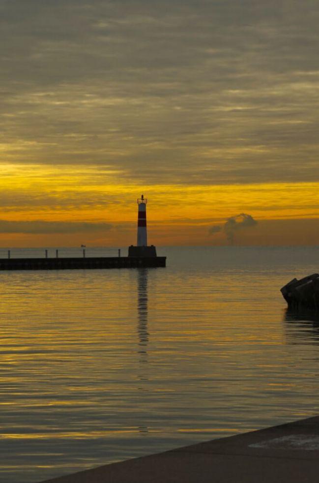 Lighthouse at Montrose Harbor