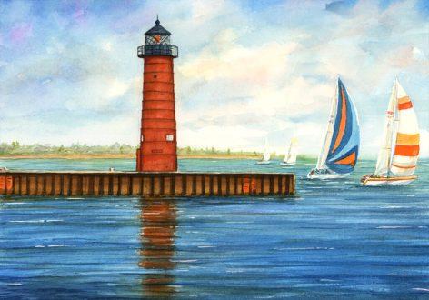 Kenosha Lighthouse by Jim Brooksher