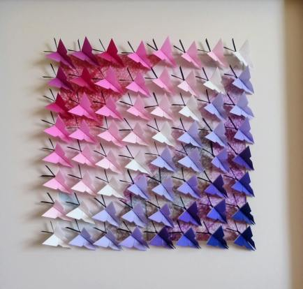 Lee Galusha origami purple