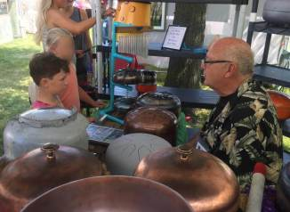 2019 SAF kettle drums with boy 2 better
